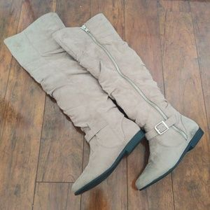 Justfab Over The Knee Suede Boots 7